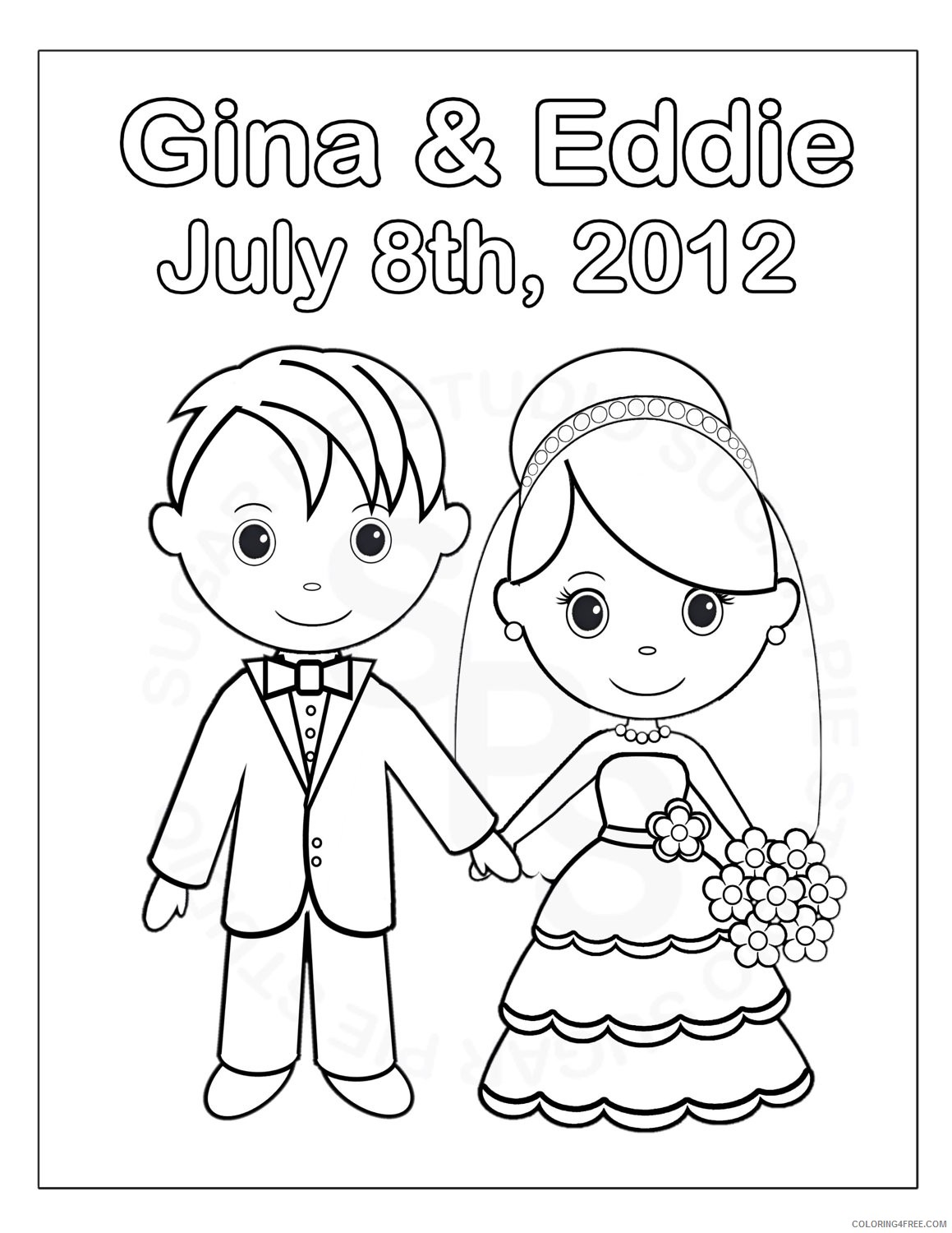 Wedding Coloring Pages – coloring.rocks! | 1500x1159
