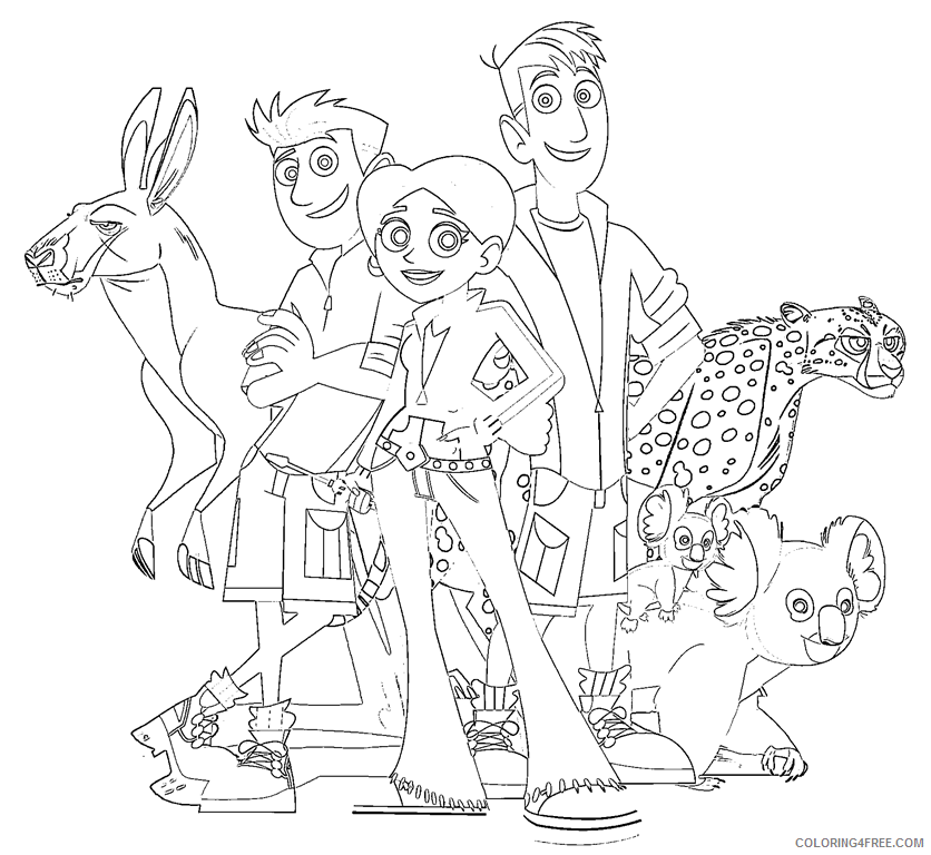 Jimmy Z with KOki Coloring Page - Free Wild Kratts Coloring Pages ... | 768x836
