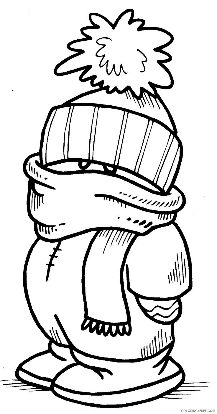 Winter Clothes Coloring Pages For Kids Coloring4free Coloring4free Com