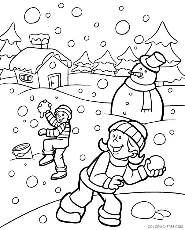 - Winter Coloring Pages For Kindergarten Coloring4free - Coloring4Free.com