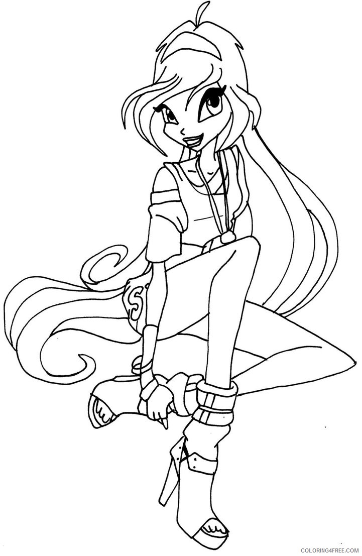 Winx Club Bloom Coloring Pages By Elfkena Coloring4free Coloring4free Com