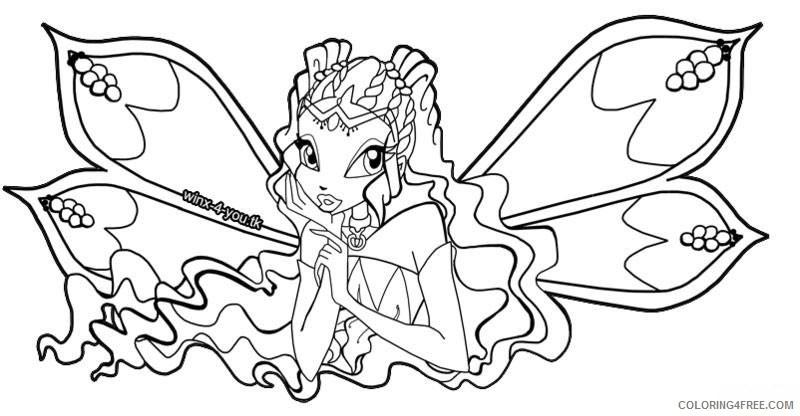 Winx Club Coloring Pages Aisha Enchantix Coloring4free Coloring4free Com