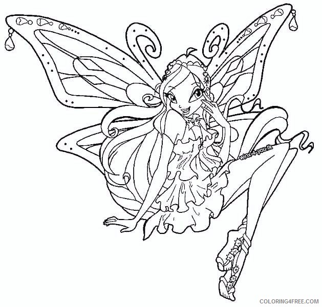 Winx Club Coloring Pages Bloom Enchantix Coloring4free Coloring4free Com