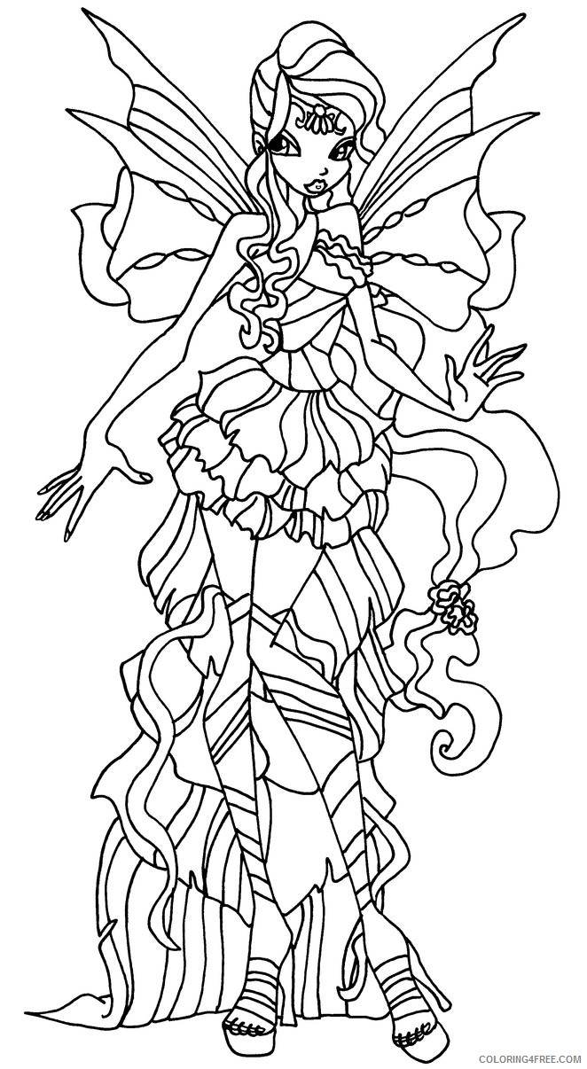 Winx Club Bloom Sirenix Coloring Pages | Fadas, Colorir | 1206x662
