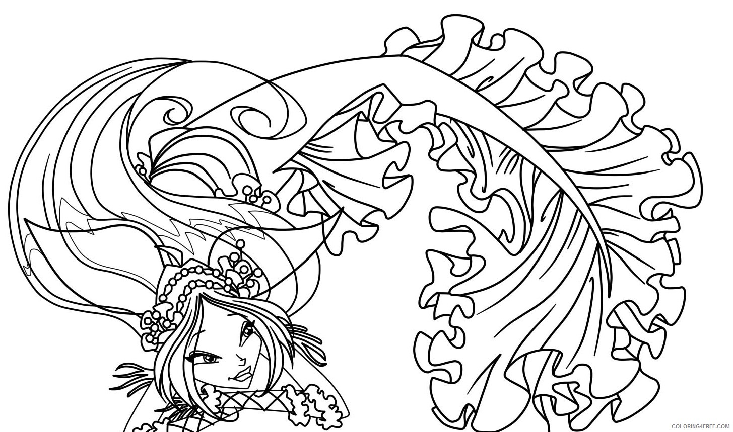 Winx Club Coloring Pages Mermaid Coloring4free Coloring4free Com