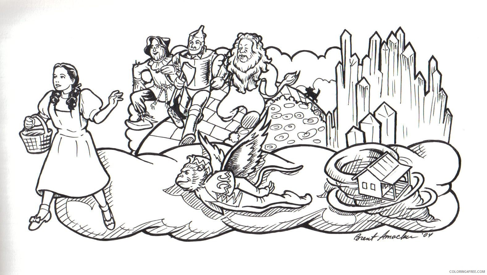 Wizard Of Oz Coloring Pages | Free Printable Coloring Pages ... | 892x1577