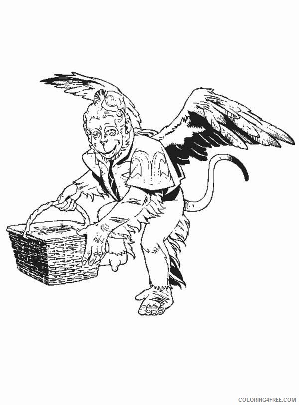 Wizard Of Oz Coloring Pages Winged Monkey Coloring4free Coloring4free Com