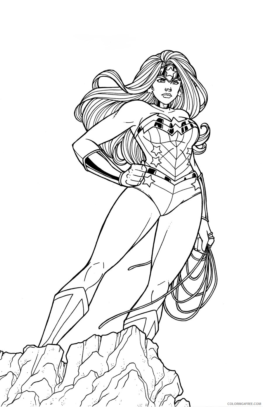 Wonder Woman Truth coloring page | Free Printable Coloring Pages | 1391x900