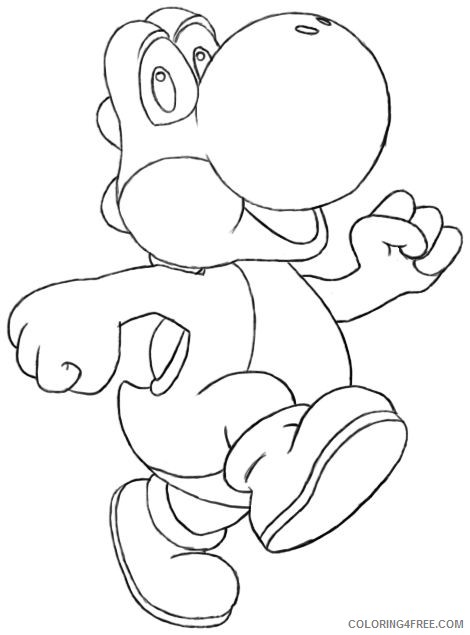 Yoshi Coloring Pages For Kids Coloring4free Coloring4free Com