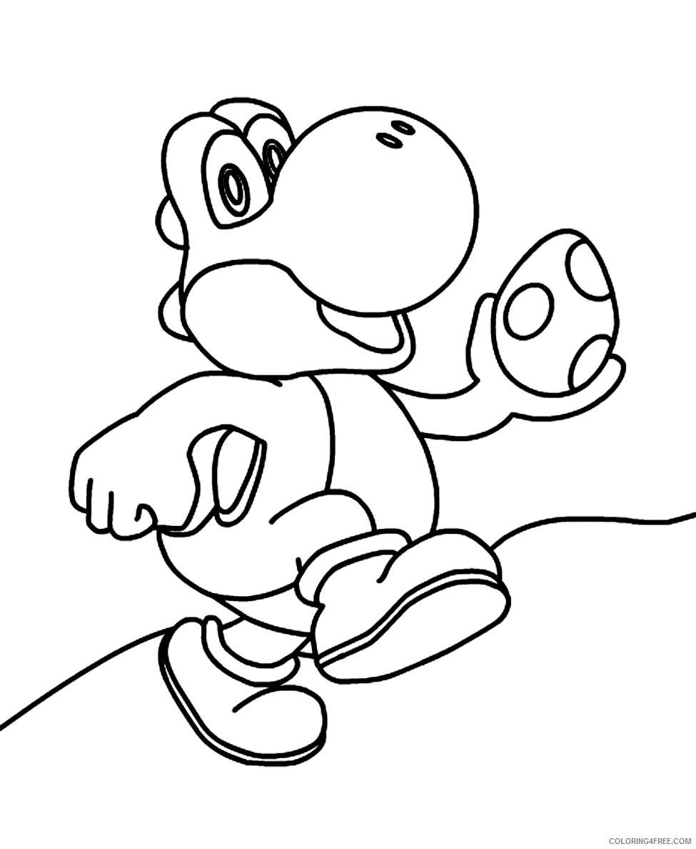 Mario Baby Yoshi Coloring Pages - Super Mario Bros Coloring Pages ... | 1188x975