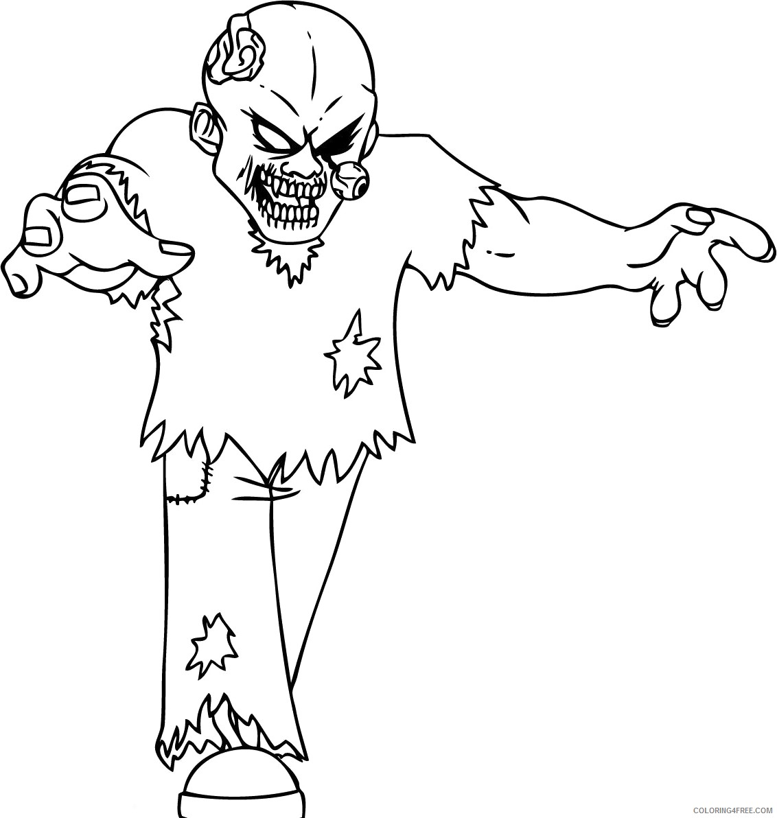 - Zombie Coloring Pages Printable For Kids Coloring4free