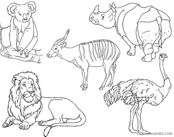 Zoo Animals Coloring Pages Zoo Black And Printable Coloring4free Coloring4free Com