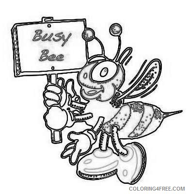 13 busy bee that you can download to you DCJ38X coloring