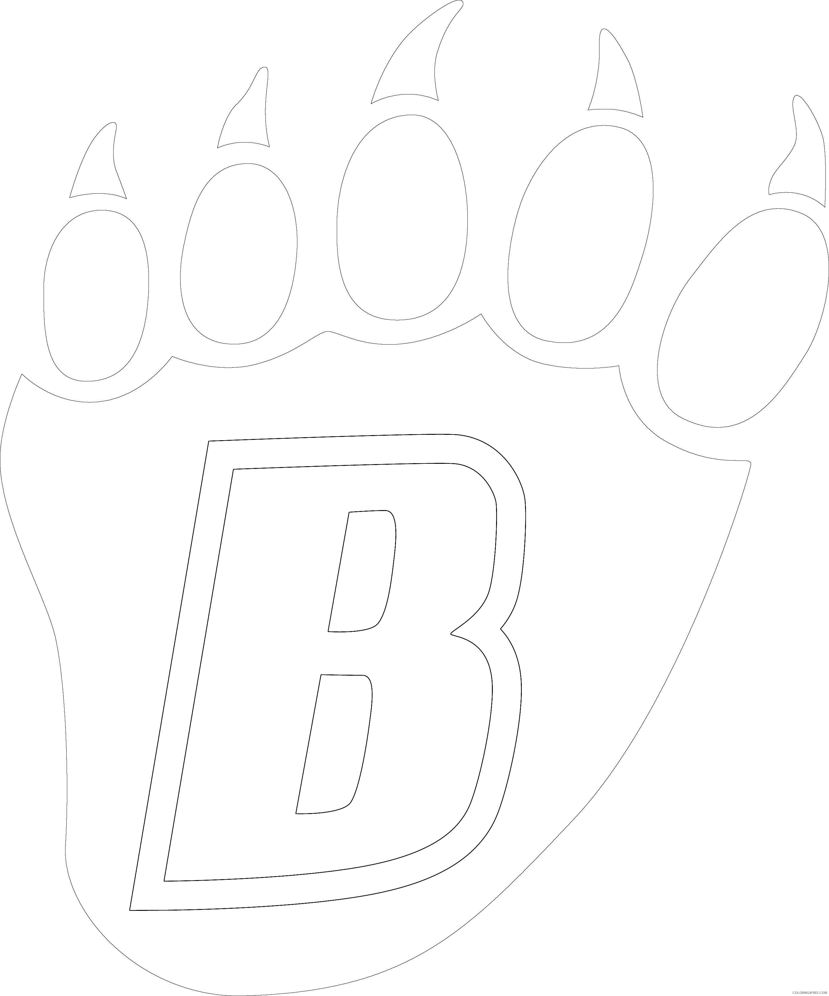 14 bear claw drawings that you can download to you J7S5gV coloring