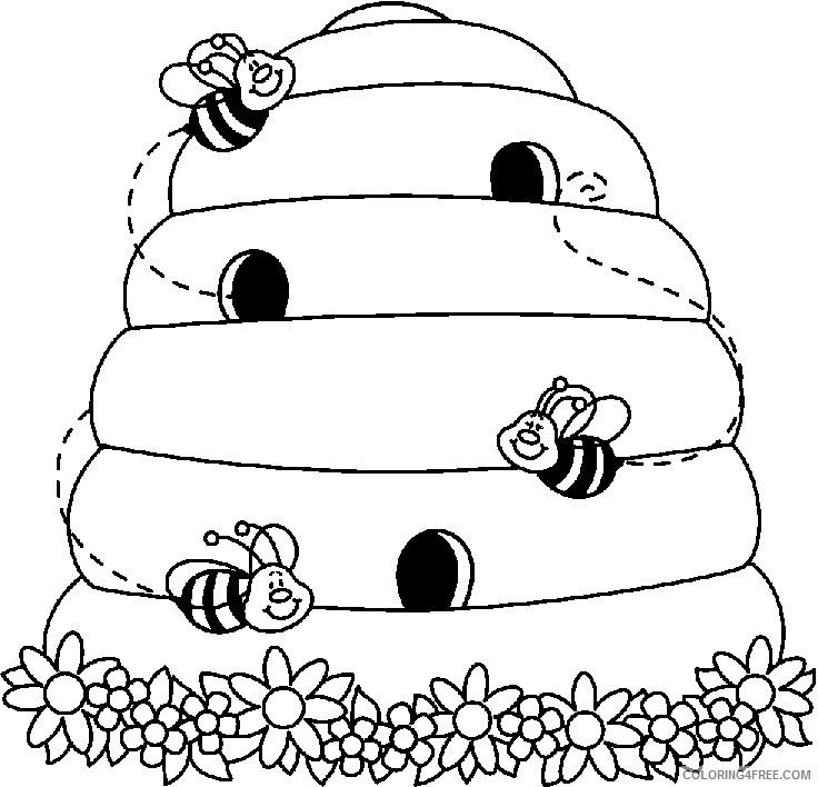 15 picture of bee hive that you can download to you HDjEJ7 coloring