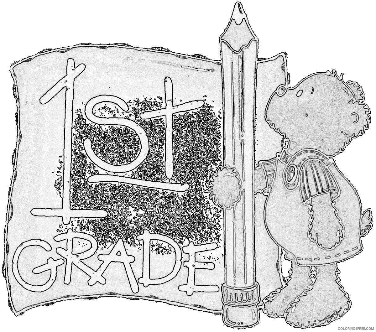 1st grade with pencil and bear vPtIgO coloring