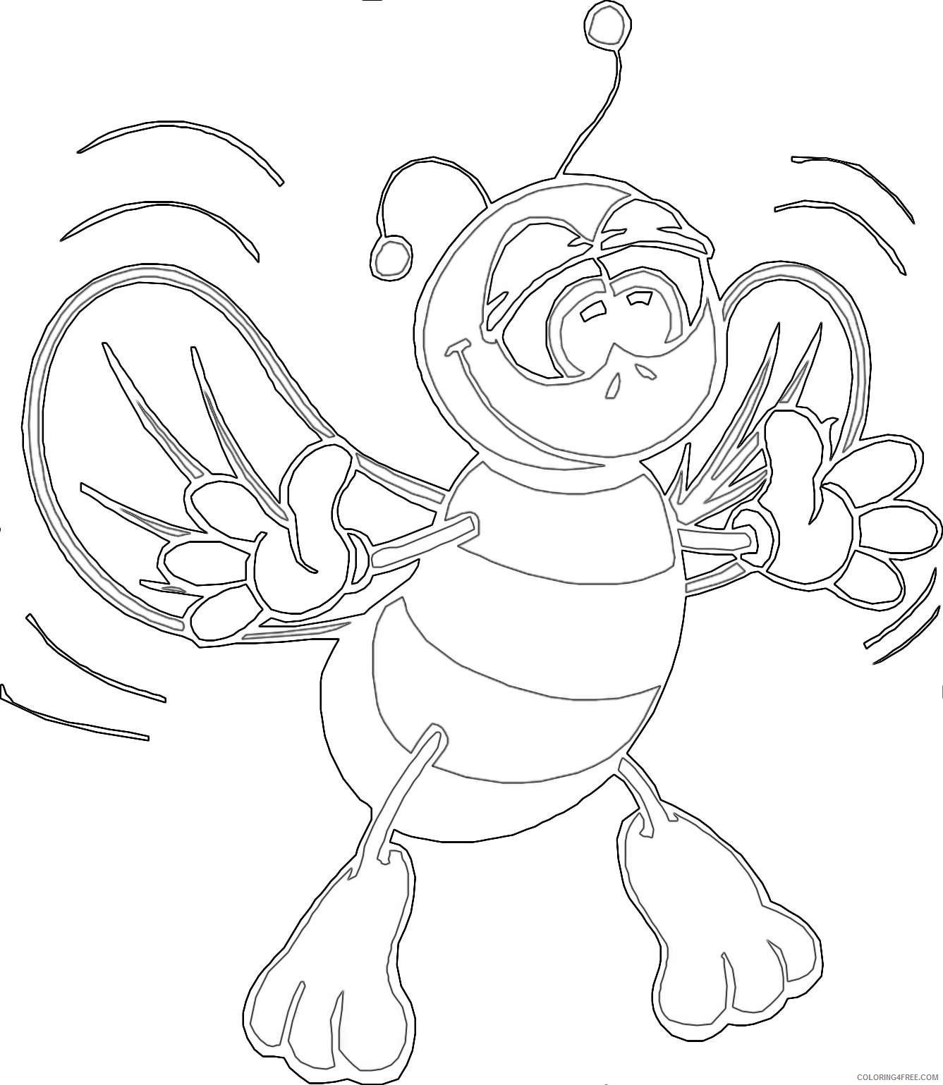 20 of a animated bee that you can download to you DkxTsL coloring