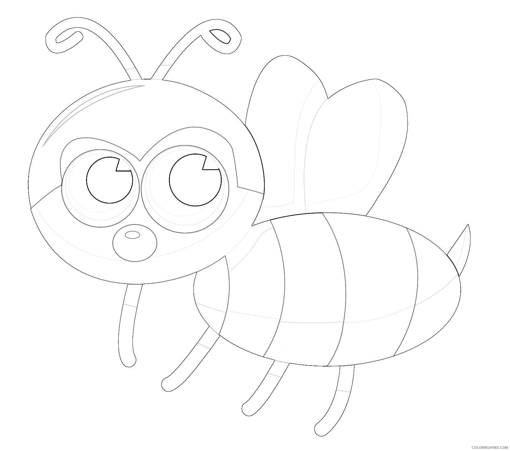 20 of a animated bee that you can download to you QG0dDu coloring