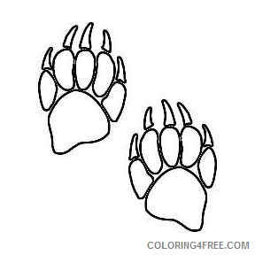 24 bear paw prints pictures that you can download to you qcl5rk coloring