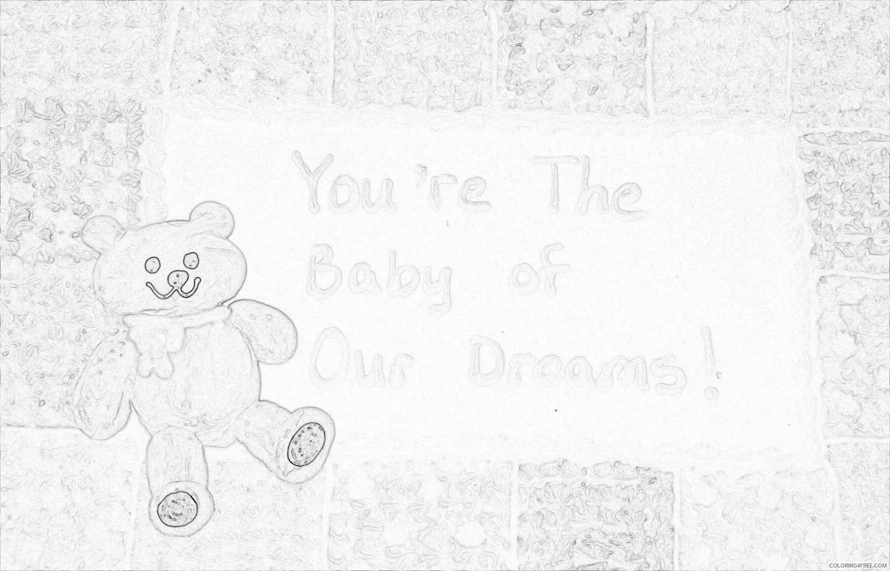 3d bear on sheet cake peCETR coloring