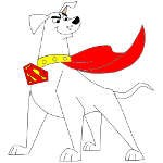 Krypto the Superdog Coloring Pages