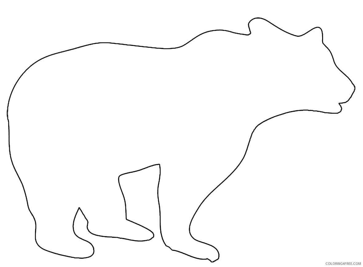 animal silhouette bear big jpg yOl44J coloring