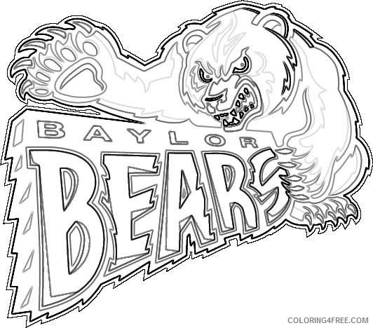 baylor bears primary logo ncaa division i a c ncaa a c S39xVW coloring