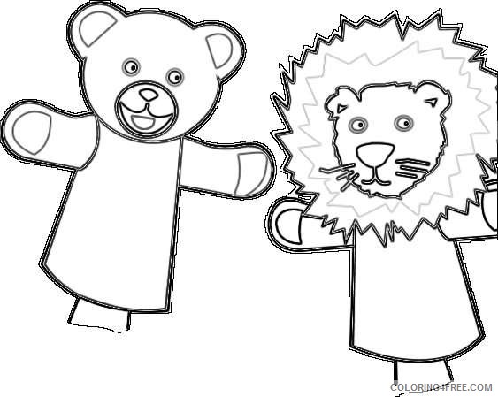 bear and a lion as a toy puppet jE31Nr coloring