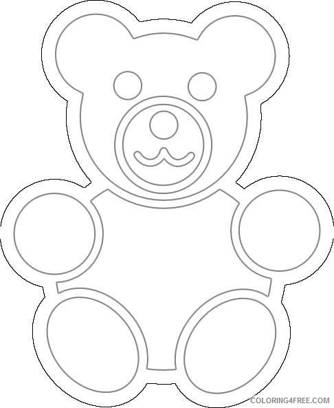 bear at clker coloring