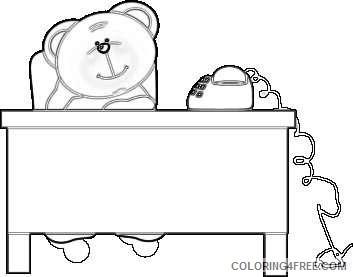 bear at desk bear at desk PfYgy3 coloring
