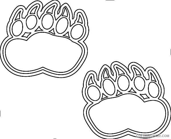 bear bear bear foot print bear footprint bear paw print bear G9hzfQ coloring