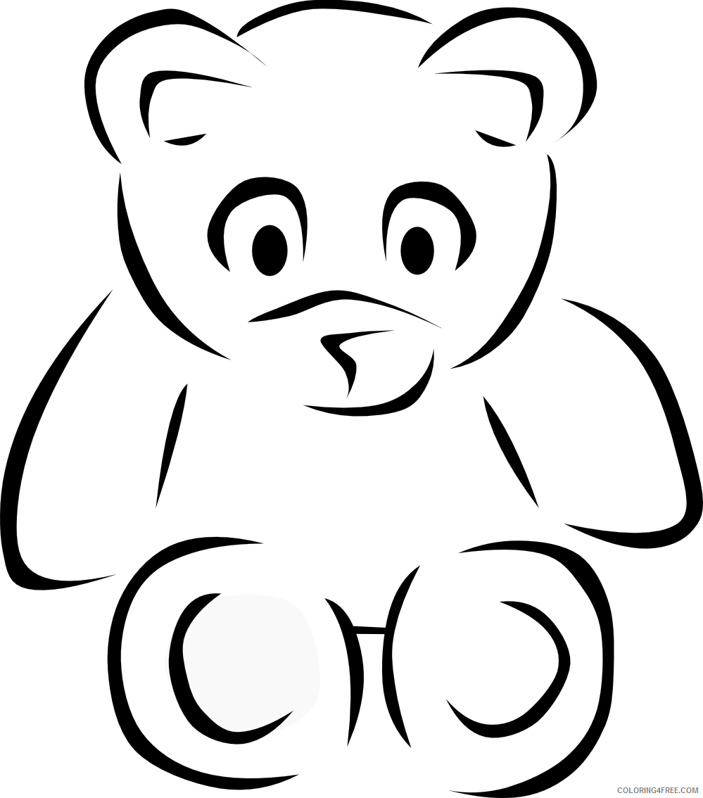 bear black and white YdaoaJ coloring