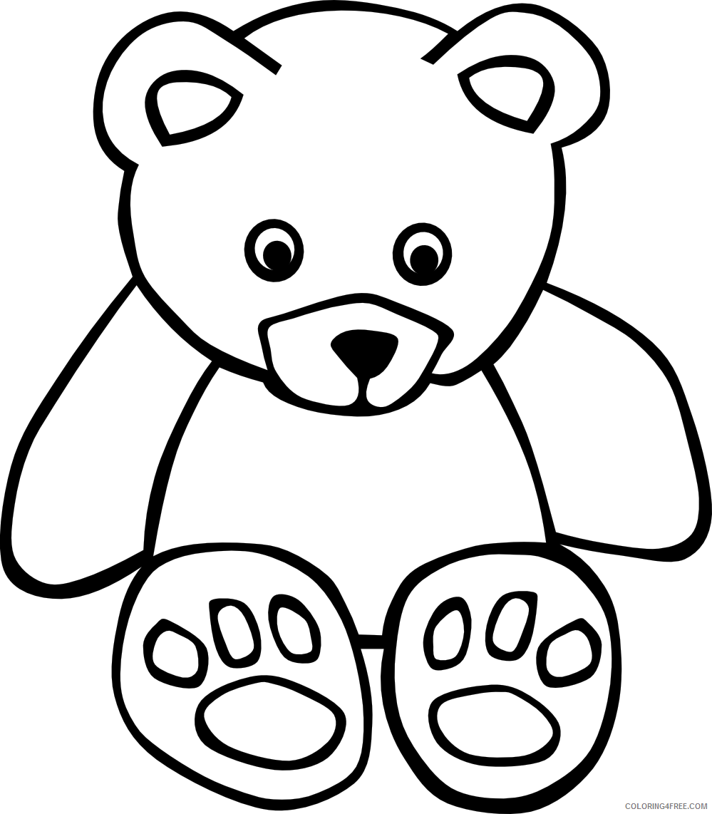 bear black and white oa4Gmt coloring