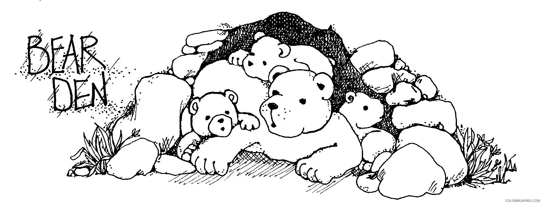 bear den 3E5B3I coloring