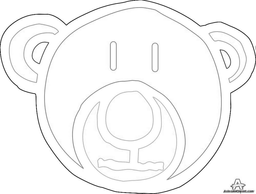 bear face design download coloring