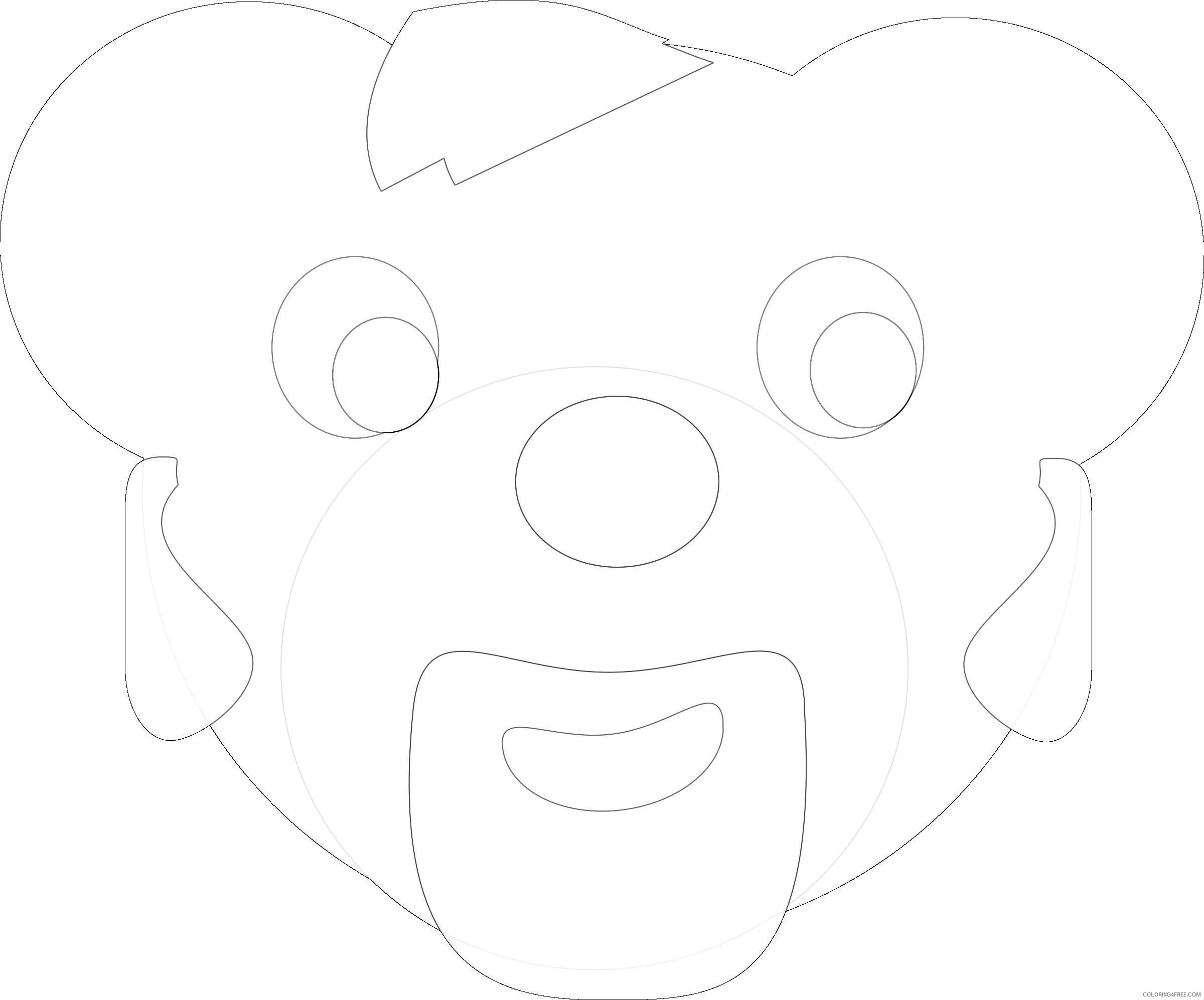 bear head by swerty mCjNO1 coloring