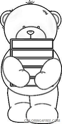 bear holding books cute bear holding a stack of books Ib8YyM coloring