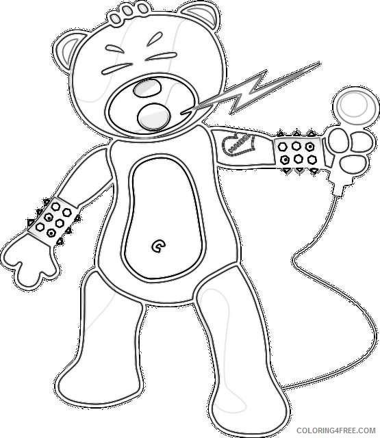 bear metal rock singing rocking kE1xzY coloring