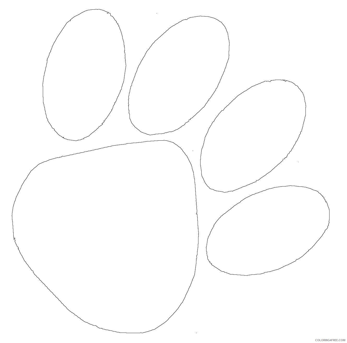 bear paw black and white B2PDdr coloring