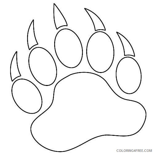 bear paw black and white FOkdDR coloring