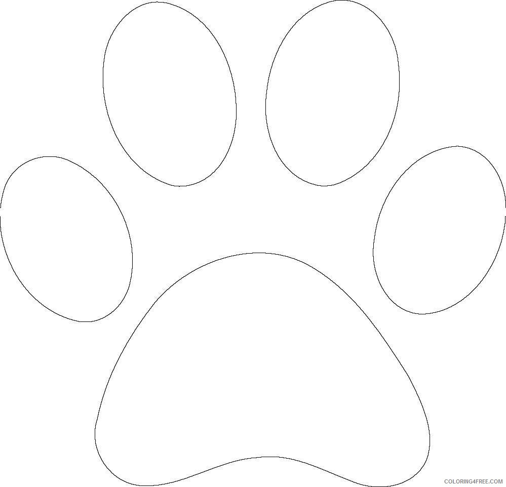 bear paw black and white LD2bmA coloring