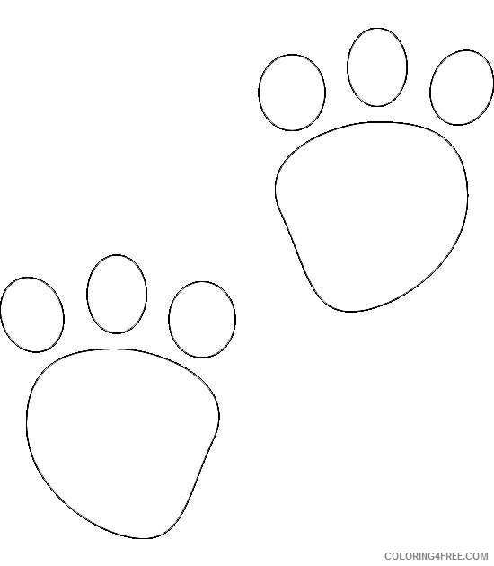 bear paw black and white RNh3i9 coloring