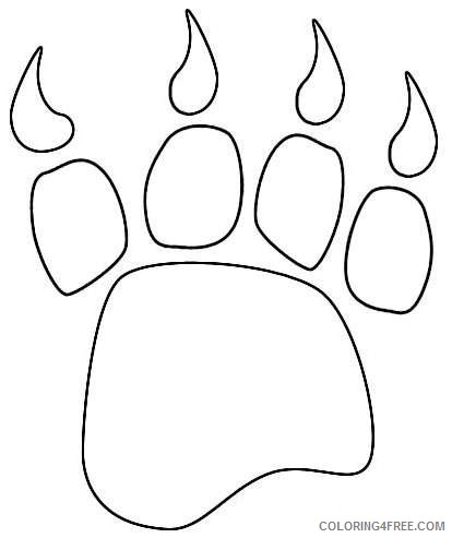 bear paw black and white zbz0y1 coloring
