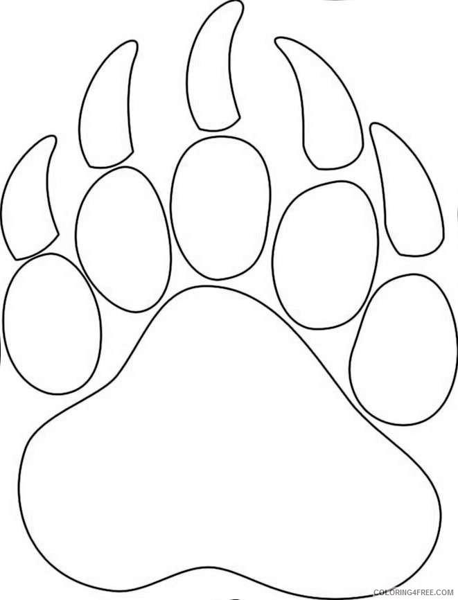 bear paw logo car interior design CAD1PN coloring