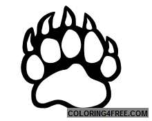 bear paw logos that you can download to you computer T2kpa8 coloring