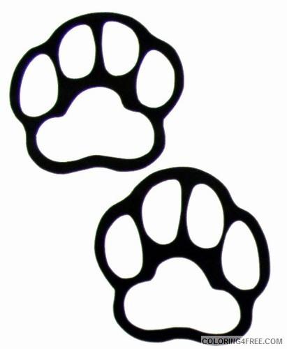 bear paw print best M6T8Lg coloring