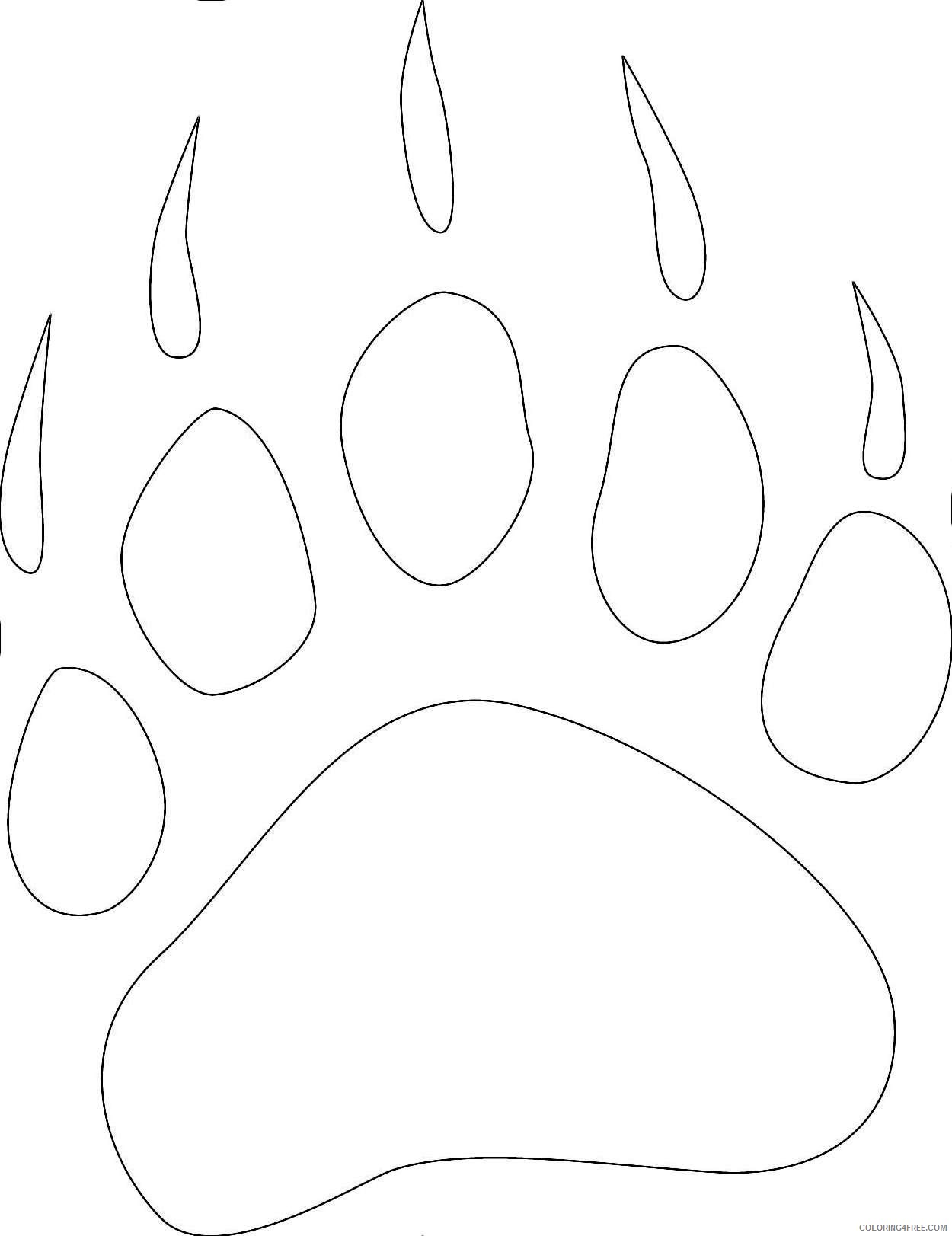 bear paw print collection b id com server 01 QNG3AA coloring