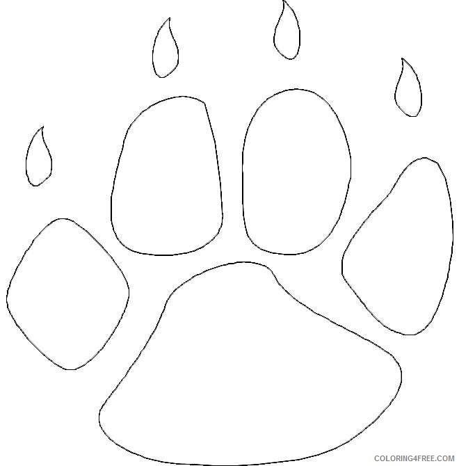 Bear Paw Print Coloring Page Sketch