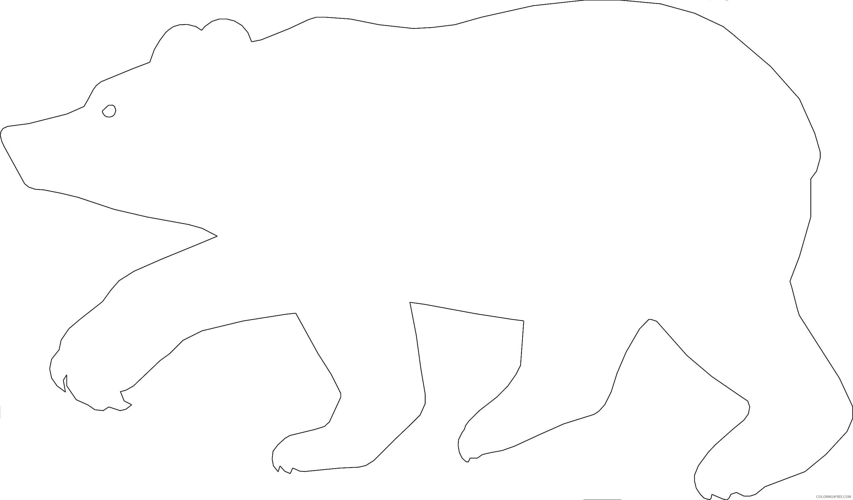 bear silhouette E7SRaT coloring