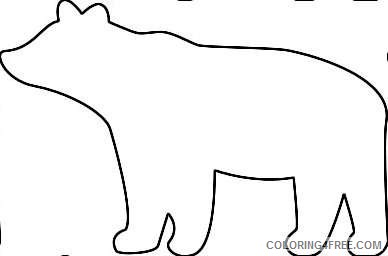 bear silhouette http www wpclipart com animals b bears more bears g4sgMN coloring